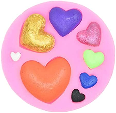 Heart silicone mold 3d heart aroma gypsum plaster silicone mould diy mold ngSPUK