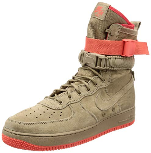 finest selection d7c06 36593 Nike SF Air Force 1 Men s Shoes Khaki-Rush Coral 864024-205 (9.5 D(M) US)