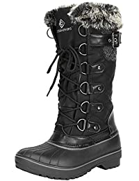 Women's DP Warm Faux Fur Lined Mid Calf Winter Snow Boots