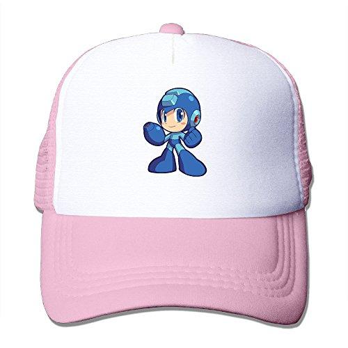 [Cool Megaman Trucker Cap Baseball Hat (5 Colors) Pink] (Megaman Hat)