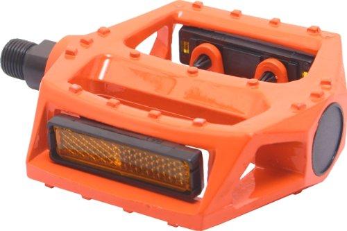 Big ROC 57pwp313o Pedal mit Reflektor (90 x 98 mm, 480 g, Spindel 9 40,6 cm Legierung Orange)