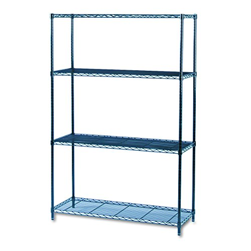 Safco Products 5291BL Industrial Wire Shelving Starter Unit 48