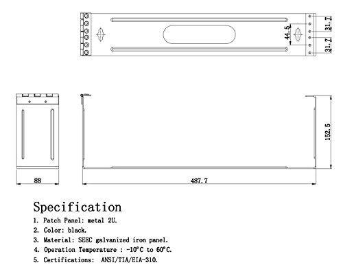InstallerParts Mounting Hinge Patch Panel