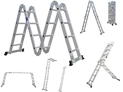 Mehrzweckleiter Anlegeleiter Leiter Stehleiter 450 cm 6 in 1 Funktion