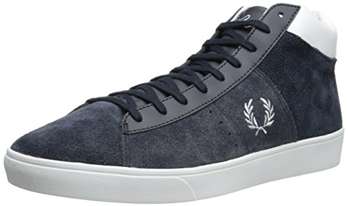 Fred Perry Men's Spencer Medium Perf Suede Fashion Sneaker,Navy/White,9.5 UK/10.5 M US