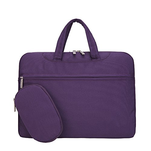 Business Laptop Bag, ANTIKE 15.6 inches Slim Lightweight Waterproof Business Briefcase Sleeve/Messenger Bag/Handbag for Acer/Asus/Dell/Fujitsu/Lenovo/ Hp/Samsung/Sony (15.6 inches, Purple) ()