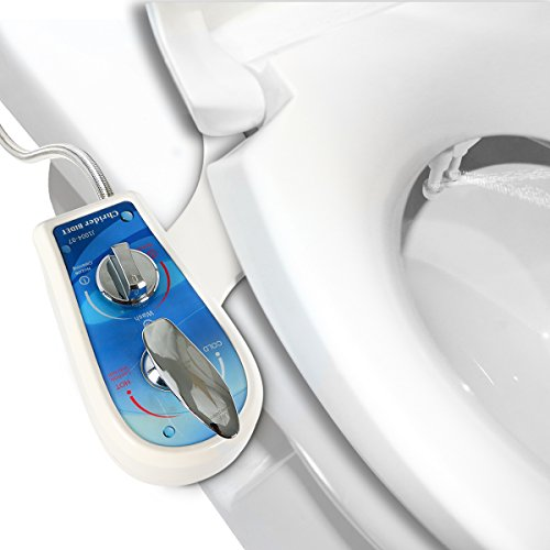 Chrider Bidet Spray Toilet Seat Attachment, Self Cleaning Dual Nozzle Women Wash, Hot and Cold Fresh Water Non-Electric Mechanical Spray System