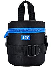 """JJC Deluxe Lens Case Pouch for Canon EF-S 18-55mm/EF-S 10-18mm/EF 50mm,Nikon AF-S 18-55mm/AF-P 18-55mm/Nikkor 50mm,Fuji Fujinon XF 18-55mm/XF 23mm/XF 16mm and Other Lens Below 3.07"""" x 4.92""""(D x L)"""
