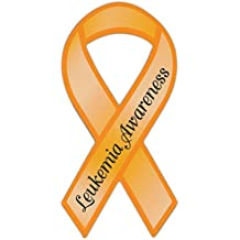Ribbon Shaped Awareness Support Magnet - Leukemia - Cars, Trucks, SUVs, Refrigerators, Etc.