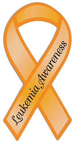 Ribbon Shaped Awareness Support Magnet - Leukemia - Cars, Trucks, SUVs, Refrigerators, ()