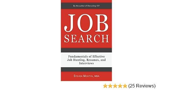 amazon com job search fundamentals of effective job hunting