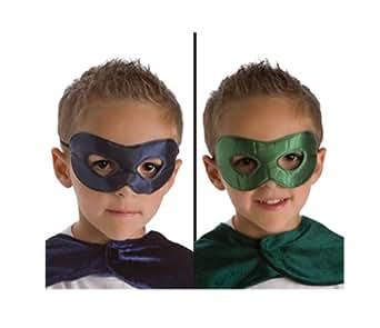 Little Adventures Superhero Costume Mask for Kids, Navy/Green