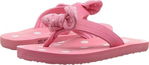 Hanna Andersson Dot-FF Girl's Polka Dot Flip Flop, Adventure Pink, 2 M US Big Kid (Dot Pink Sandals Polka)