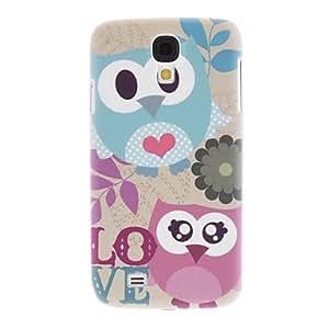TOPAA Matte Style Love Cartoon Design Owl Pattern Durable Hard Case for Samsung Galaxy S4 I9500