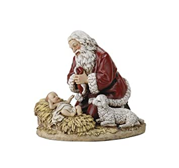 Joseph s Studio by Roman High Kneeling Santa Figure by Joseph Studio, 8.75