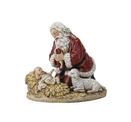 Joseph's studio by Roman The Kneeling Santa Figure 8-3/4-Inch