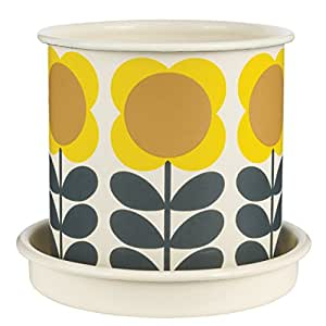 Orla Kiely Maceta para Planta tamaño Mediano y con diseño de Flores