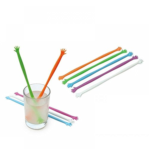 OPPOHERE Hand Drink Stirrers Bar Pub/Party/Kitchen Cocktail Swizzle Sticks 5PCS from OPPOHERE
