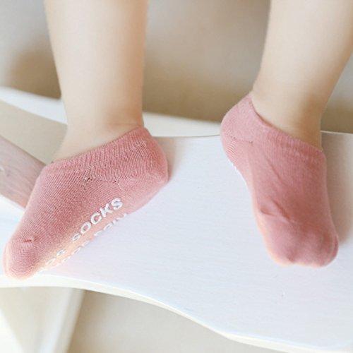 8 Pairs Crawling Knee Pad Non-Slip Socks Set Knee Protector Toddler Leg Warmer Unisex Soft Cotton Socks for Baby Toddler