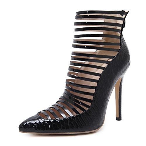 HGTYU Women'S Shoes 10-12Cm High Heels Sexy Sharp Snakes Fine Heels Forty