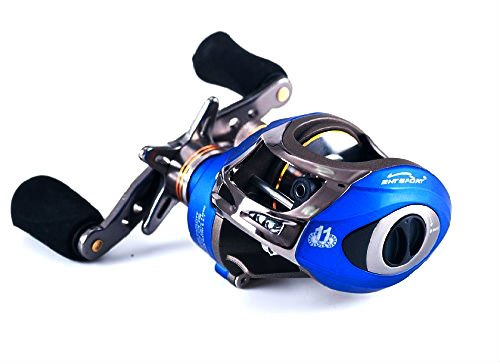 Entsport Saltwater Casting Reel Low Profile Baitcasting Fishing Reel 10+1 Ball Bearings Baitcast Reel Right/Left Handed Baitcaster Fishing Reel Baitcaster (Right Handed) (Reel Casting Plus)