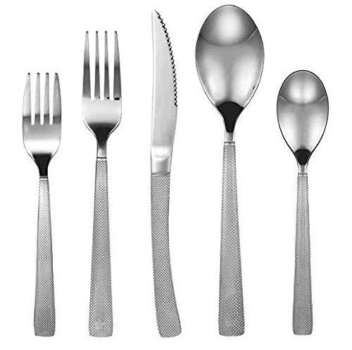 (DOKAWORLD Silverware Set Tableware Cutlery - 20-piece Premium Quality Flatware Set for 4-18/10 Stainless Steel - Heavy-Duty Dishwasher Safe Silver Ware - High-grade Mirror Polishing Silverwear)