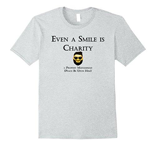 Mens Emoji Even A Smile Is Charity Smiley Emoticon Beard T - Avatar Sunglasses