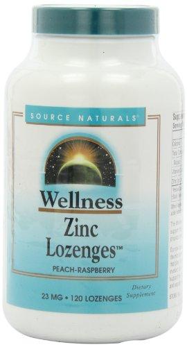 Source Naturals Wellness Zinc Lozenges 23mg, 120 Tablets