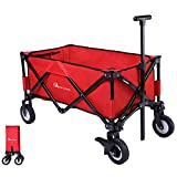 Best Folding Wagons - Moon Lence Folding Wagon Collapsible Garden Shopping Cart Review