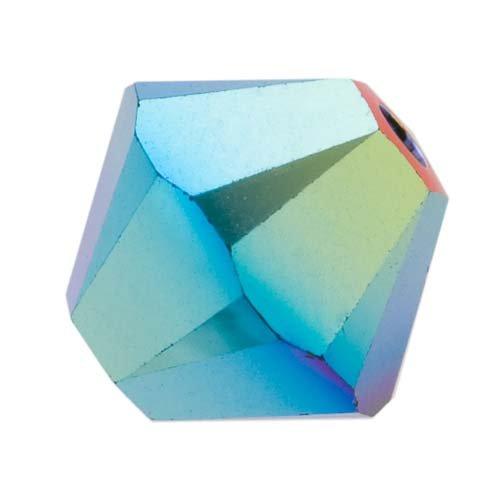 Swarovski Crystal, #5328 Bicone Beads 4mm, 24 Pieces, Jet AB 2X