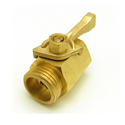 summery life Super Heavy Duty 3/4'' Solid Brass Shut Off Valve Garden Hose Shut Off Valve Garden Hose Connector, Metal Shutoff Ball Valves for Water Hose Standard 3/4'' Thread by summery life