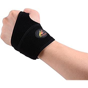 Uprotective Wrist Brace with Copper Material Adjustable Design Compression Relieve Pain for Carpal Tunnel Sports Pain/Sprains/Weightlifting Suit Left or Right Hand