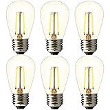 BRIMAX – (6Pack) – 2watt Bathroom LED Vanity Light Bulbs, Dimmable, 2700K Warm White, 20W Equivalent, E26 Medium Base, S14 2W Led Edison Light Bulbs for 6/12/18-light Sputnik Chandelier Bulbs Review