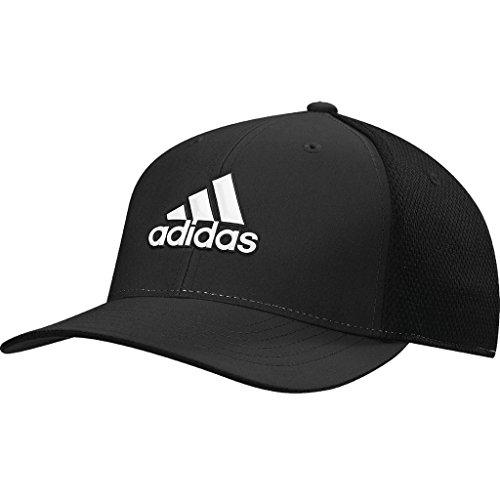 Adidas Tour Hat (Adidas Tour Climacool Flex-Fit Structured Hat Mens Performance Golf Cap Black S/M)