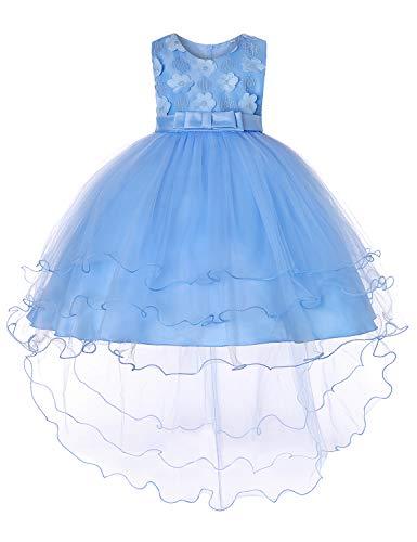 JOYMOM Toddler Girl Dresses,Infants Baby Blue Party Dress