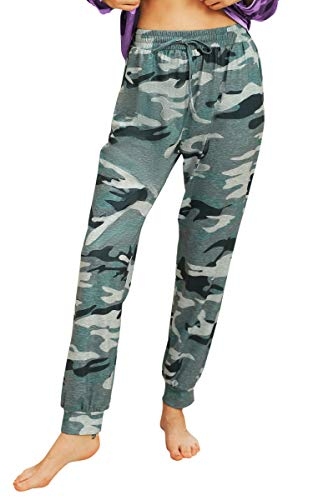 Hibluco Women's Comfy Pajamas Pants Loose Drawstring Lounge Pants Casual Joggers