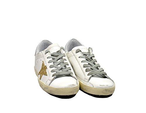 Golden Goose Sneaker Bianco Oro
