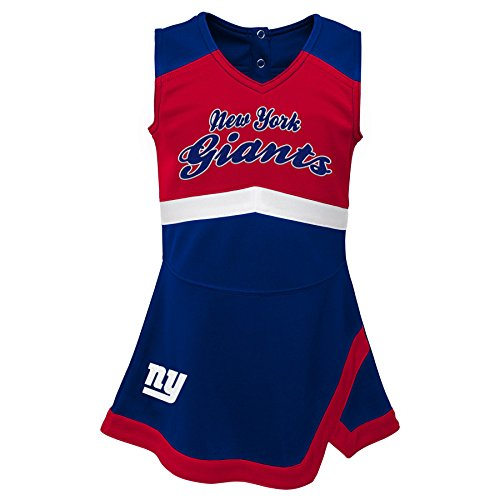 Outerstuff NFL NFL New York Giants Infant Cheer Captain Jumper Dress Dark Royal, 24 -