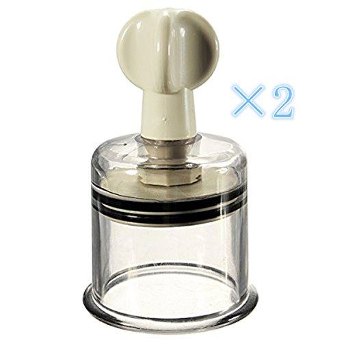 HiiBaby® 2pcs XL tamaño (Dia.1.97in) Twist No bomba succión ahuecamiento pezón Enhancer ampliación mama ampliadora vacío rotatorio servidumbre por fetiche - firme, Perkier, pezones grandes
