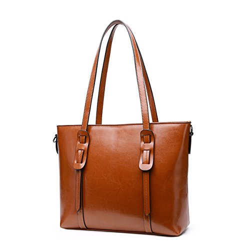 Pelle Verniciata Medio Borsa Womens Valin Marrone In Tote qzxZEE6wC