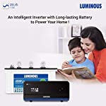 Luminous Zelio+ 1100 Pure Sine Wave Inverter with Power Charge 18042TJ 150 Ah Tall Tubular Plate Inverter Battery for…