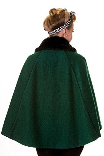 Cape Banni Vert Vintage Manteau Ou Green Rouge 5qz4Bwxq