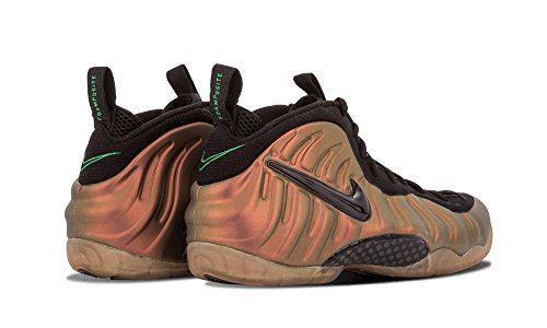 Nike Air Foamposite Pro Mens Pallacanestro-scarpe 624041 Nero, Verde Palestra