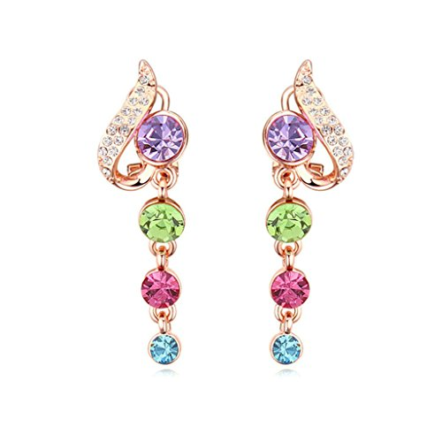 [Women Stud Earrings Gold Plated Simple Round Cubic Zirconia Earrings for Women by Aienid] (Scott Hall Costume)