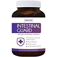 Intestinal Guard (Non-GMO) Intestinal Support for Humans - Wormwood & Black Walnut - 60 Capsules