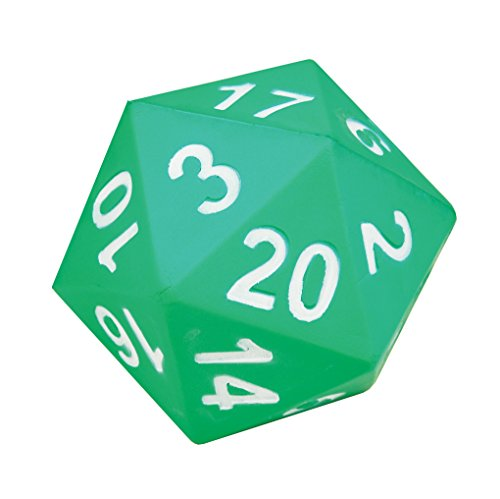 Learning Advantage Jumbo Polyhedra Die - 20 Sides - Large, Foam Dice for Games - Teach Numbers, Probability, Addition and Subtraction
