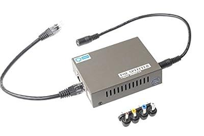 SMAKN® Active Gigabit PoE Splitter Adapter, IEEE 802.3at compliant, Up To 100 meters, 5V / 12V /18v Output