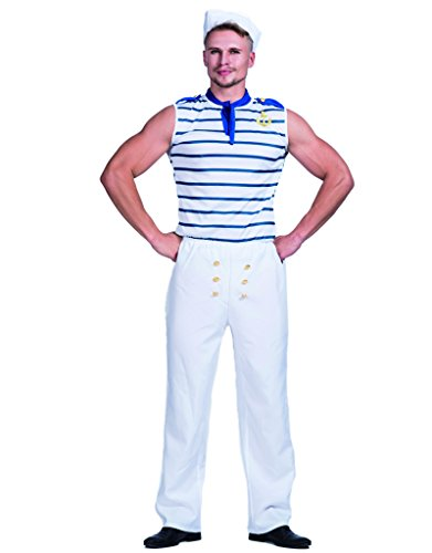 Sailor Halloween Costumes Men (FantastCostumes Mens Tradition Sailor Costume(As Picture, Medium))