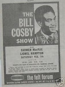Bill Cosby 1970 Felt Forum NYC Concert Poster Newspaper Ad ()