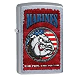 Zippo Pocket Lighter Marines Windproof Lighter, Street Chrome